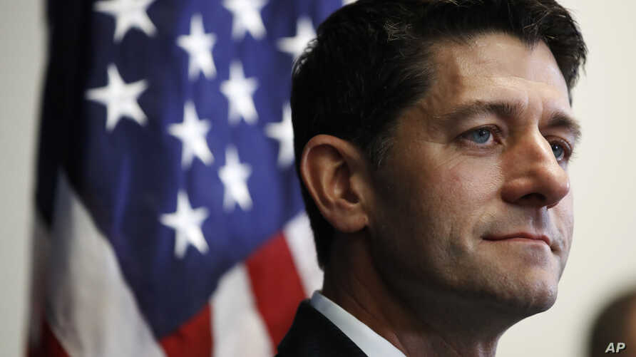 House Speaker Paul Ryan of Wis., listens during a news conference about Harvey relief efforts after a meeting with House Republicans, Sept. 6, 2017, on Capitol Hill in Washington.