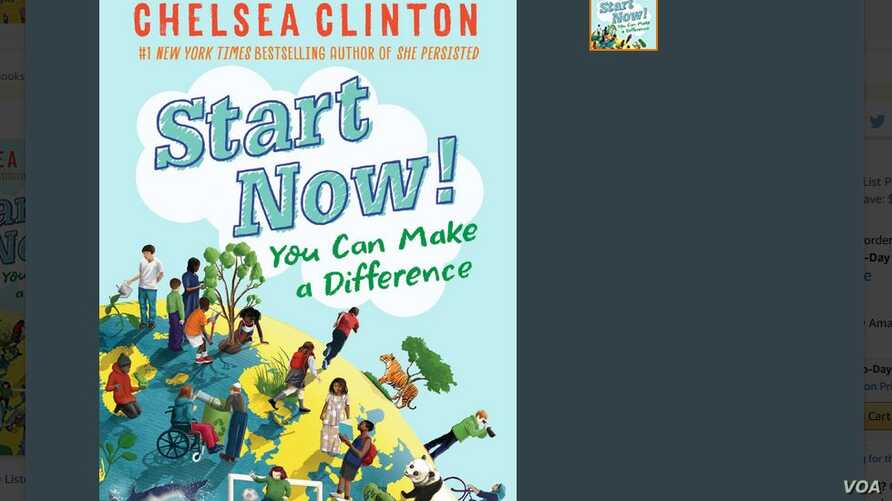 "A screenshot from Amazon website of Chelsea Clinton's new book, ""Start Now! You Can Make a Difference,"" released this week. (Courtesy image)"