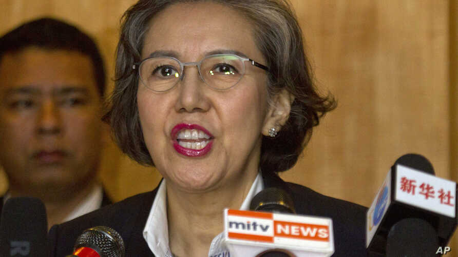FILE - Yanghee Lee, U.N. special rapporteur on human rights in Myanmar, says freedoms of expression, assembly and association have been stifled in the country.