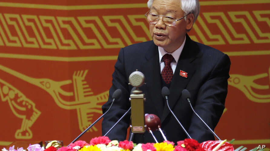 Nguyen Phu Trong, general secretary of the Communist Party of Vietnam, delivers a speech during the opening ceremony of the Communist Party of Vietnam's 12th Congress in Hanoi, Vietnam, Jan. 21, 2016.