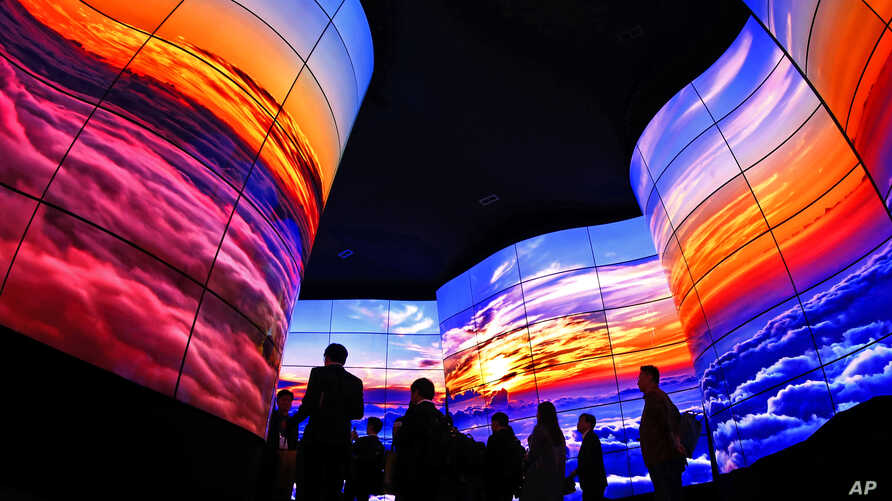 LG delivers an immersive OLED TV experience to CES 2018 attendees during this year's International CES, in Las Vegas, Nevada, Jan. 9, 2018.