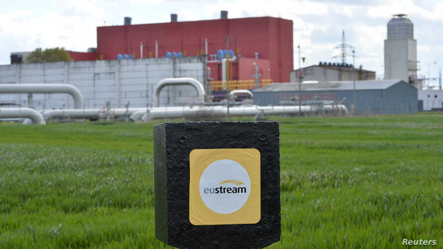 Pipelines are seen at a gas border delivery station of pipeline operator Eustream in the eastern Slovak town of Velke Kapusany, near the border with Ukraine, April 15, 2014.