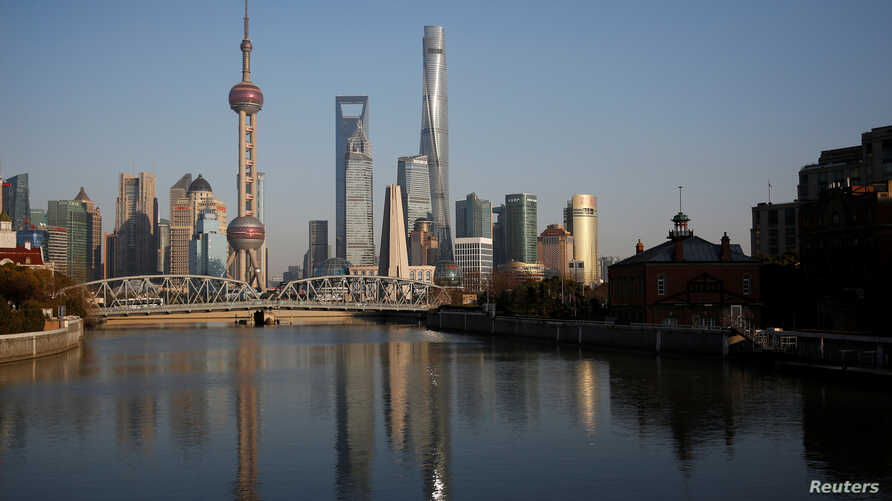 A general view of Shanghai's financial district of Pudong is seen in Shanghai, China, March 14, 2017.