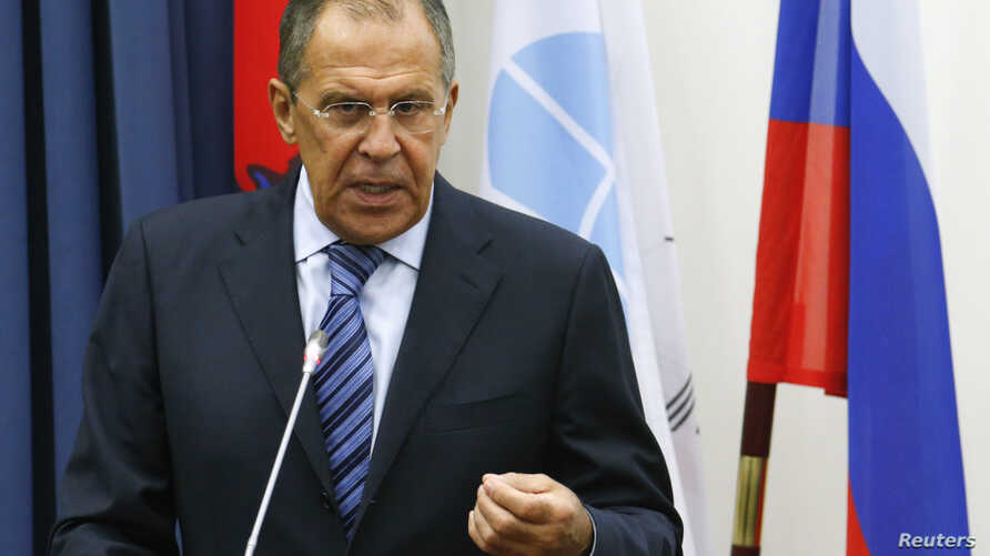 Russia's Foreign Minister Sergei Lavrov attends a meeting with students at Moscow State Institute of International Relations in Moscow, September 1, 2014.