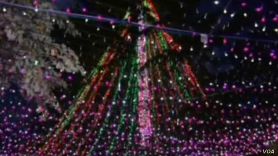 Australian Family Recaptures Christmas Light Record