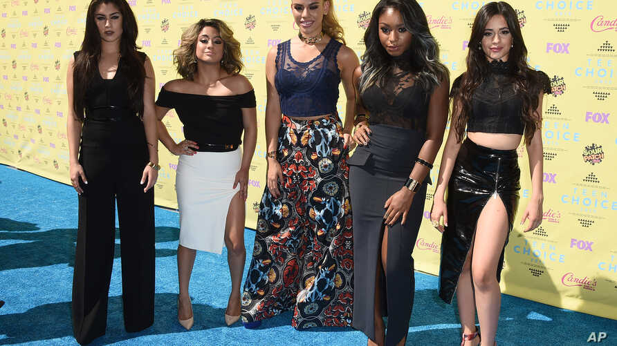 FILE - 5th Harmony arrives at the Teen Choice Awards at the Galen Center.