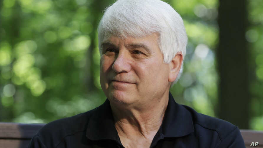 FILE - In this June 9, 2017 photo, former Army medic James McCloughan is interviewed in South Haven, Mich. McCloughan, who risked his life nine times to rescue comrades in Vietnam, is becoming the first person to receive the Medal of Honor from Presi