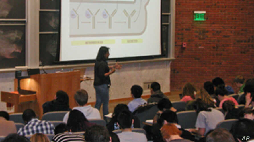 Large lecture classes are the norm for students in their first two years in college in the United States.