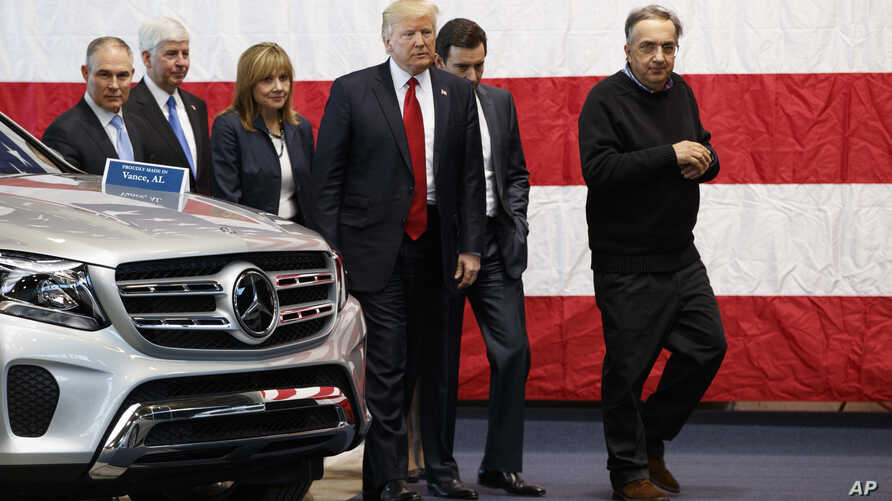 President Donald Trump tours the American Center of Mobility in Ypsilanti Township, Michigan, March 15, 2017.