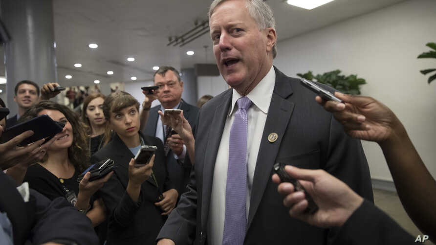 FILE - Rep. Mark Meadows, R-N.C., chairman of the House Freedom Caucus, says the DREAM Act has too many legislative hurdles to overcome and that there are other compassionate options for fixing the Deferred Action for Childhood Arrivals program.