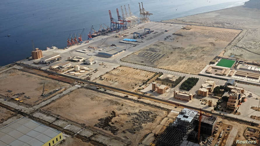 FILE - A general view of Gwadar port in Gwadar, Pakistan, Oct. 4, 2017.