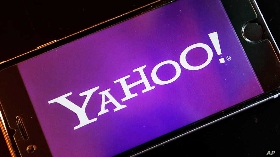 FILE -  Yahoo  logo appears on a smartphone.