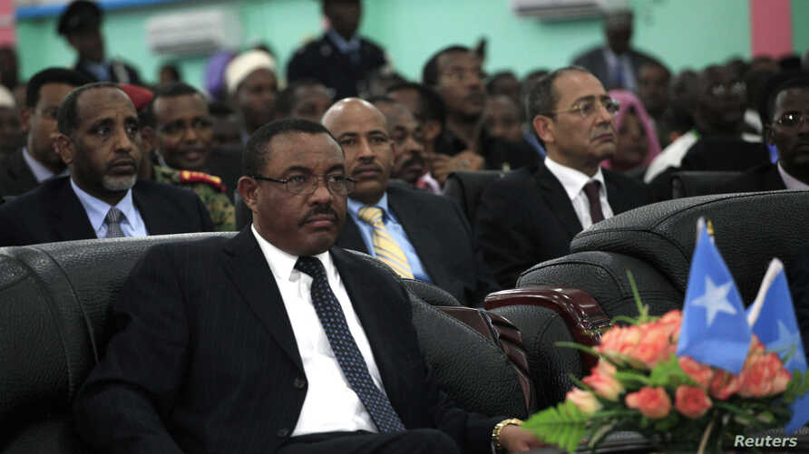 Hailemariam Desalegn attends the inauguration ceremony of Somalia's President Hassan Sheikh Mohamud in Mogadishu September 16, 2012.