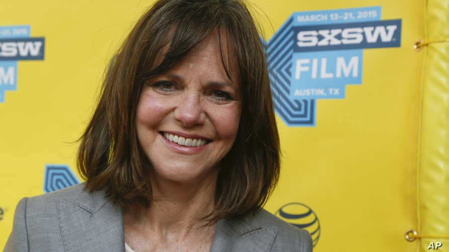 FILE - Actress Sally Field, pictured at the South by Southwest Film Festival in Austin, Texas, in March, is one of several artists who will receive the National Medal of Arts from President Barack Obama at a White House ceremony.