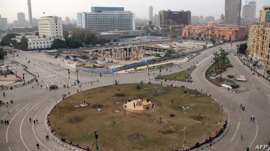 A general view taken on Jan. 26, 2014 shows Cairo's Tahrir Square the day after thousands of demonstrators protested in the square.