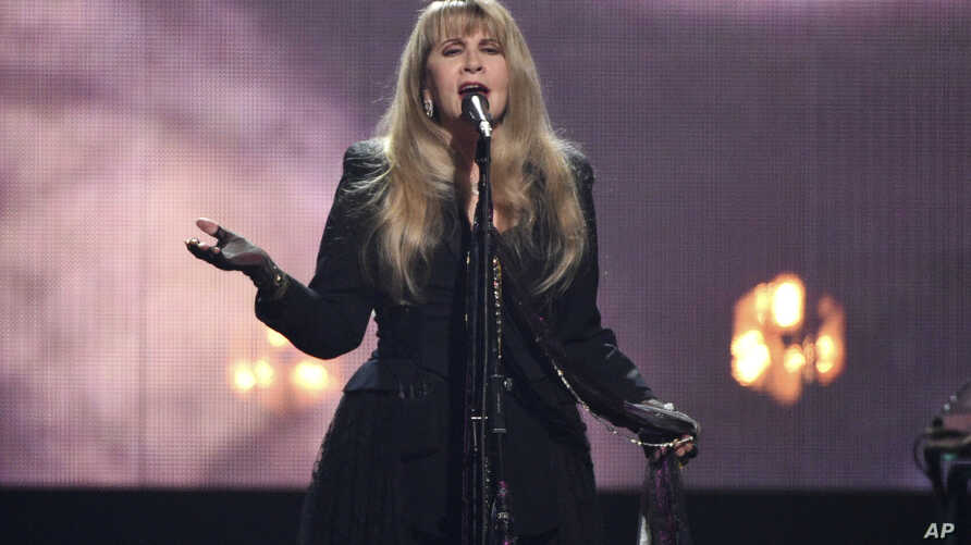 Inductee Stevie Nicks performs at the Rock and Roll Hall of Fame induction ceremony at the Barclays Center, March 29, 2019, in New York.