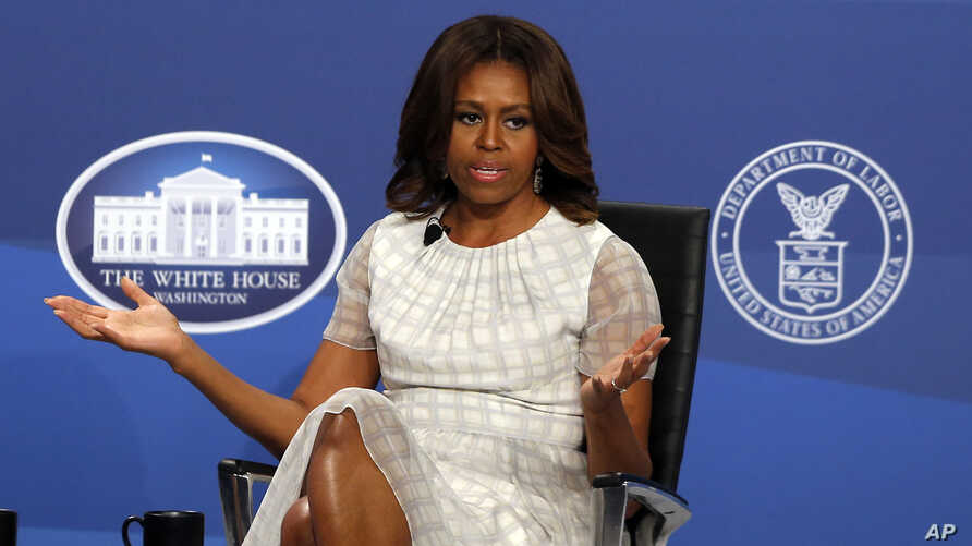 First lady Michelle Obama speaks at The White House Summit on Working Families at a hotel in Washington, June 23, 2014.