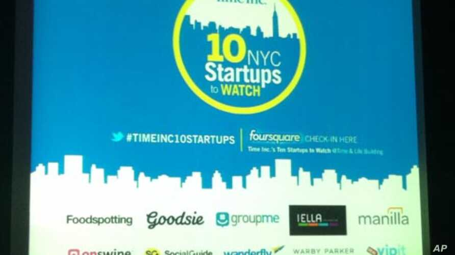 Time magazine calls New York City a hotbed of technical innovation and selected 10 of the city's most promising startups.