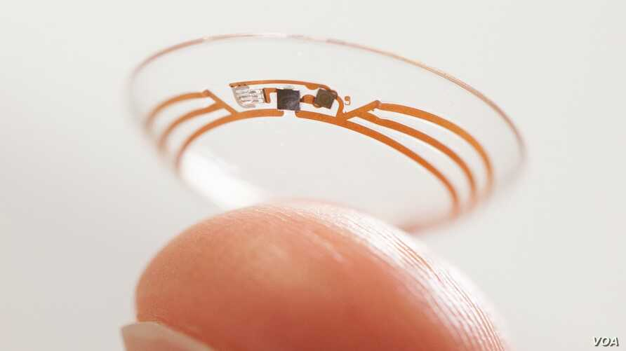"""Google is developing a """"smart"""" contact lens that could help people to track their glucose levels."""
