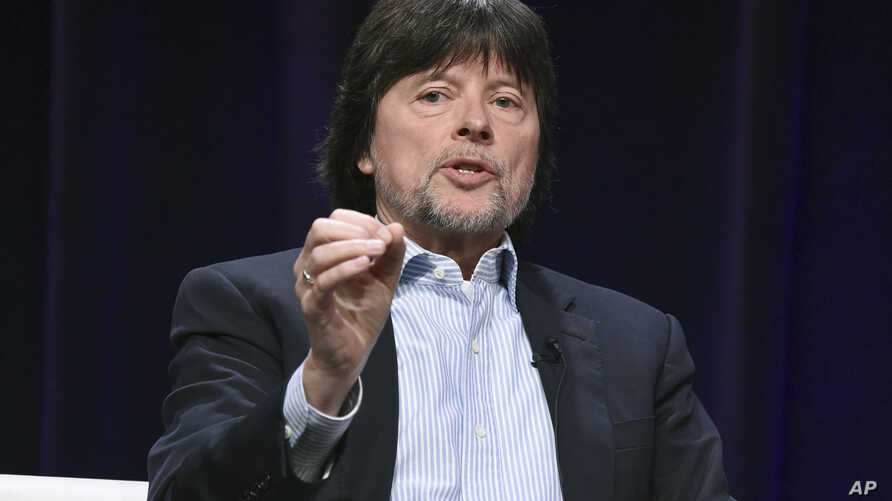 "FILE - Ken Burns participates in the ""The Vietnam War"" panel during the PBS portion of the 2017 Summer TCA's in Beverly Hills, California, July 30, 2017."