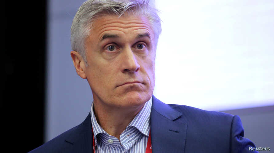 FILE - Michael Calvey, senior partner at the Baring Vostok private equity group, attends a session of the St. Petersburg International Economic Forum (SPIEF), Russia May 24, 2018.