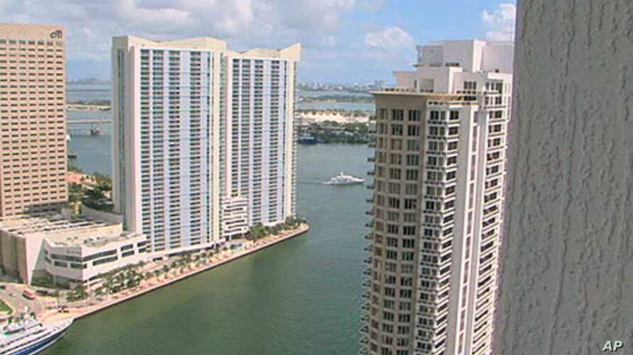 A view of some of the waterfront properties in Miami, where home and condo sales are surging this year, mainly driven by international buyers, October 2011.