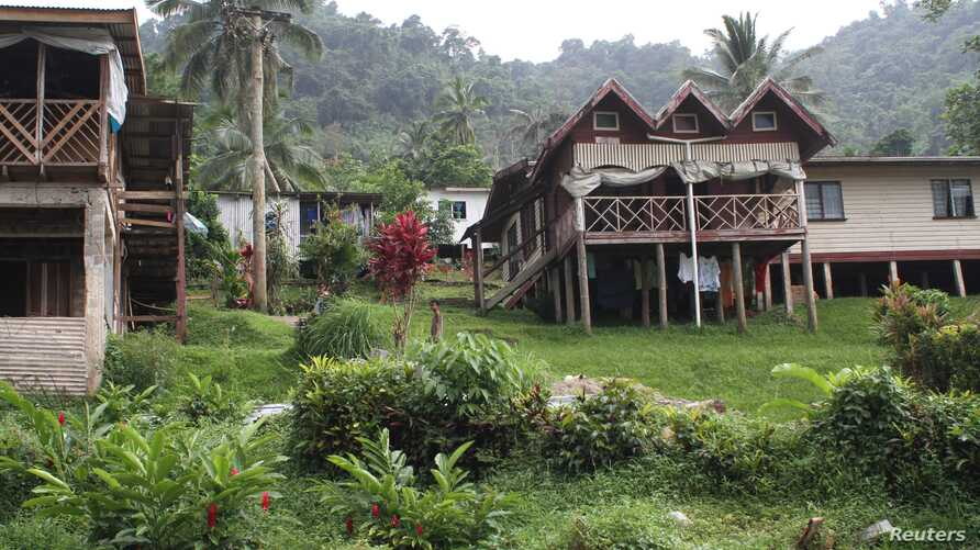 A general view of Wailotua Village No. 1, an inland community of about 200 people that is prone to flooding, cyclones and landslides, about 65 km (40 miles) north of the capital Suva, Fiji, Dec. 8, 2017.