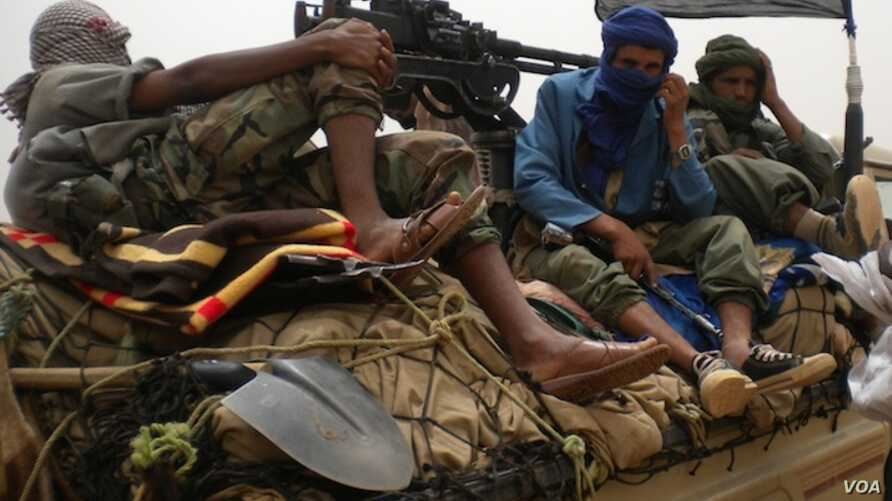 Rebels from the militant Islamist sect Ansar Dine in Mali