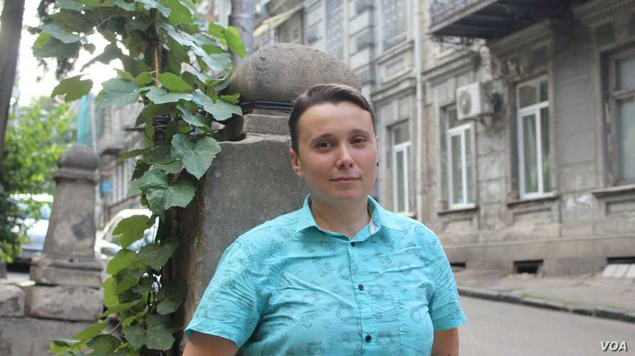 Lawyer and LGBT rights advocate Nino Bolkvadze, 40, is seeking a city councillorship in Tbilisi, Georgia.