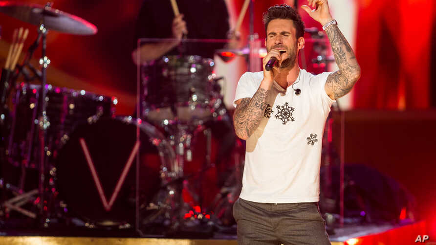 """Adam Levine of Maroon 5 performs onstage during """"A Very Grammy Chrismas"""" at The Shrine Auditorium in Los Angeles, California, Nov. 18, 2014."""
