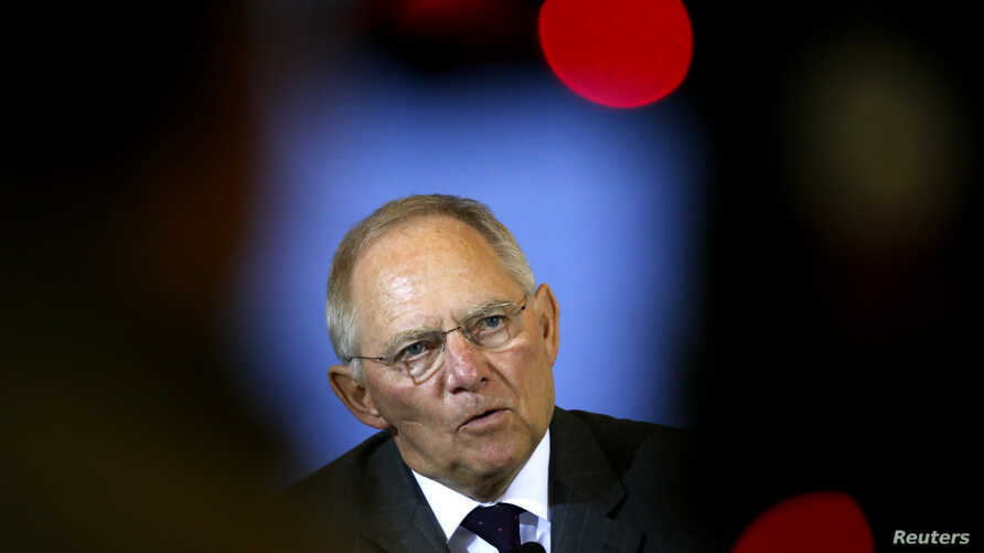 Germany's Finance Minister Wolfgang Schaeuble addresses a news conference in Berlin in this March 25, 2013 file photo.