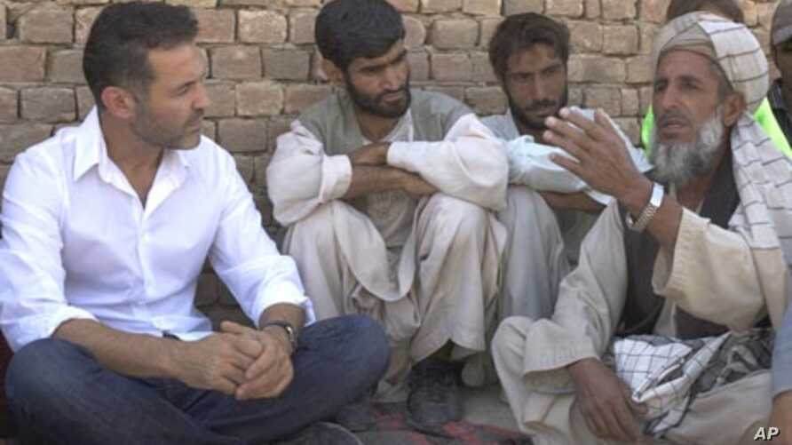 Khaled Hosseini, an ambassador for the UN High Commission for Refugees (UNHCR), in Afghanistan.
