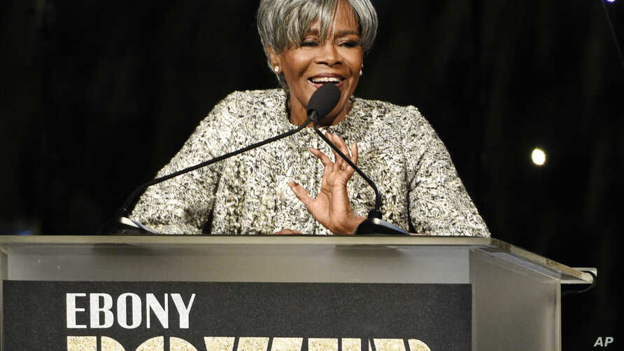 Honoree Cicely Tyson addresses the audience at the 2016 EBONY Power 100 Gala at the Beverly Hilton on Thursday, Dec. 1, 2016, in Beverly Hills, California.