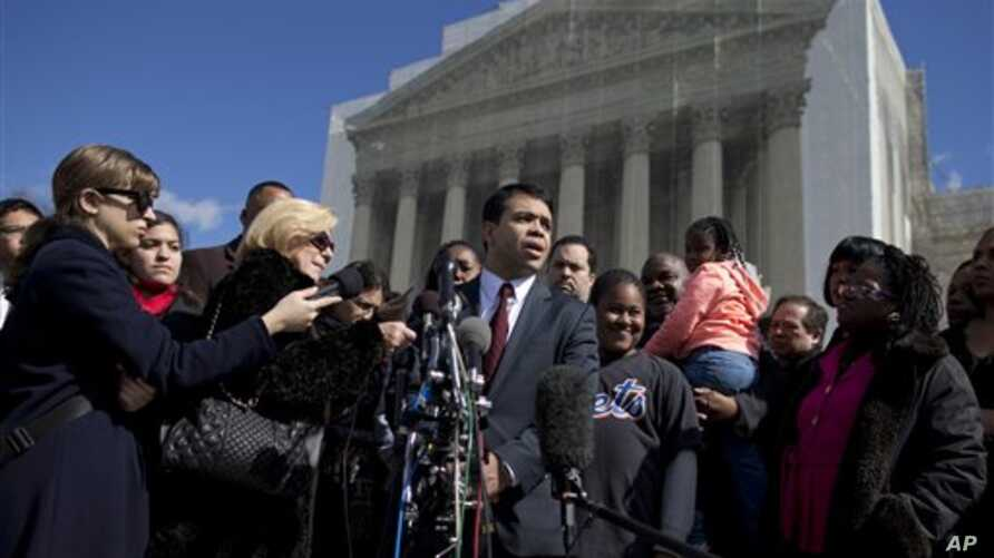 Debo Adegbile, special counsel, NAACP Legal Defense Fund, outside the Supreme Court, Washington, Feb. 27, 2013.