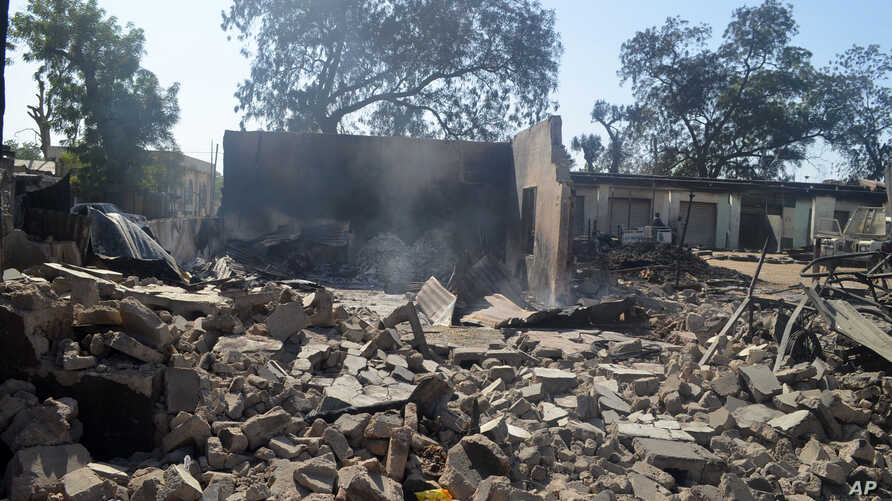 A burned out building is seen after an attack by Boko Haram in Bama, Nigeria. The latest attack by suspected Islamic extremists in Nigeria's northeast has left 115 people dead, more than 1,500 buildings razed and some 400 vehicles destroyed, witnesse