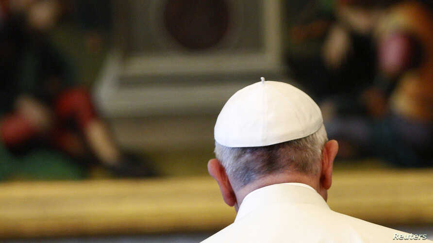 FILE - Pope Francis is seen at the Vatican.