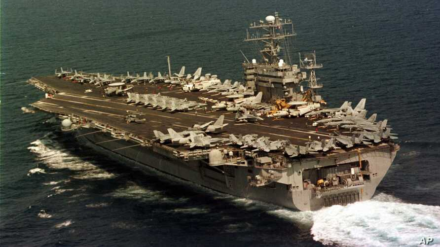 The US Navy aircraft carrier USS Nimitz (file photo)