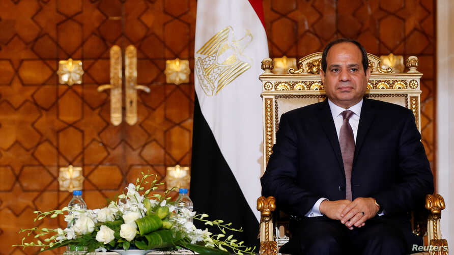 Egypt's President Abdel Fattah al-Sisi attends a ceremony at the El-Thadiya presidential palace in Cairo, Oct. 5, 2016.