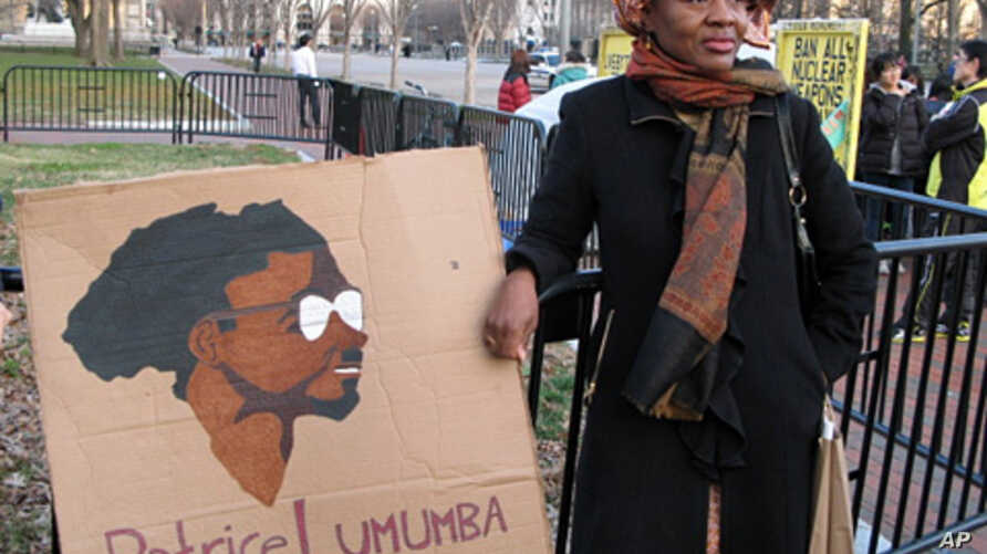 Emira Woods was one of the pro-Lumumba protesters outside the White House, Jan 17, 2012