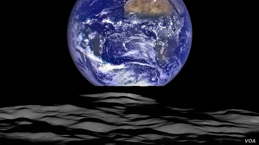 This NASA image released December 18, 2015 shows what NASA's Lunar Reconnaissance Orbiter (LRO) recently captured in a view of Earth from the spacecraft's vantage point in orbit around the moon.