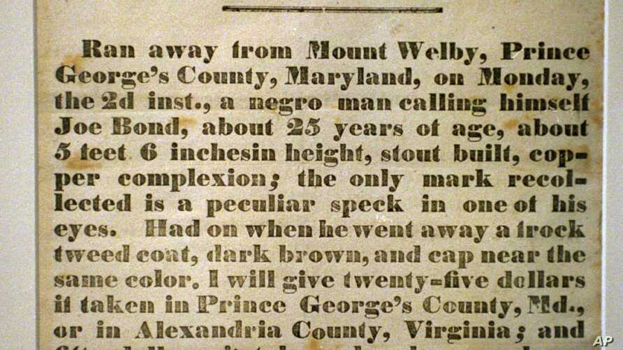This handbill from Connecticut in 1850 offers an example of what runaway slaves faced.