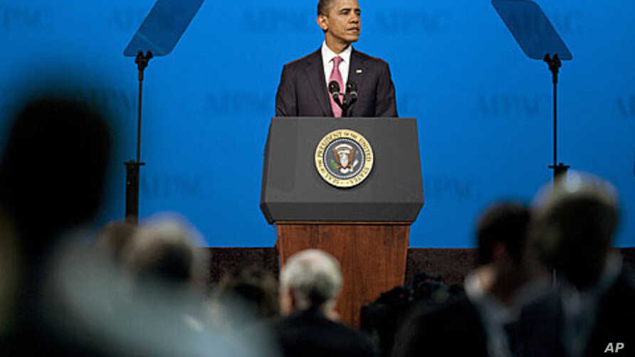 US President Barack Obama pauses as he speaks during the American Israel Public Affairs Committee policy conference in Washington March 4, 2012.