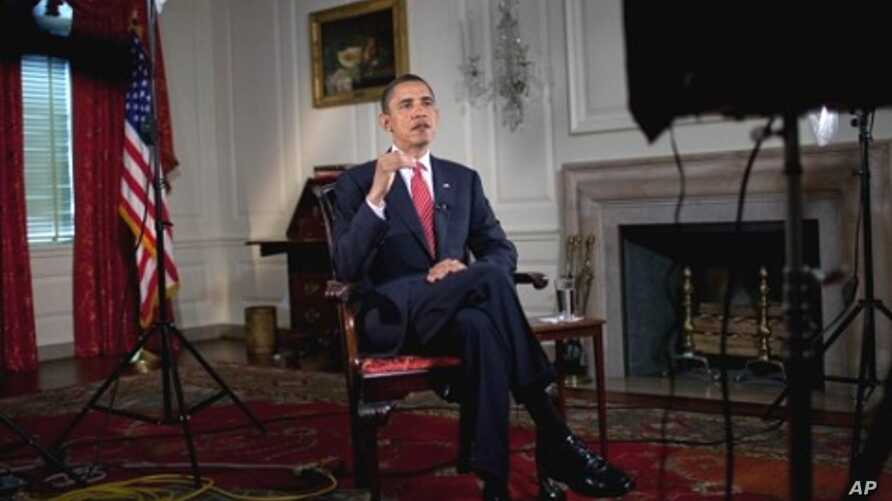 President Obama records his Weekly Address for 24 Apr 2010