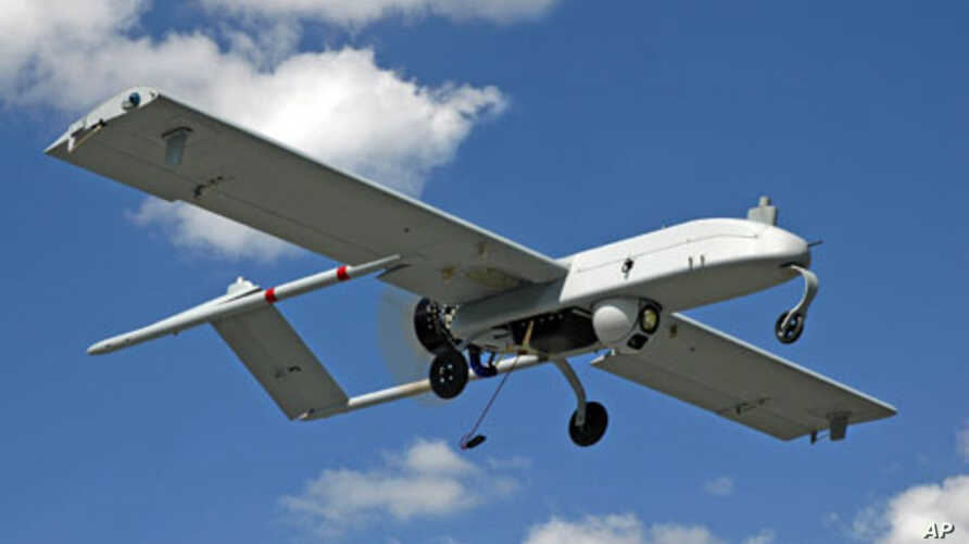An unarmed U.S. 'Shadow' drone is pictured in flight in this undated photograph, (File)