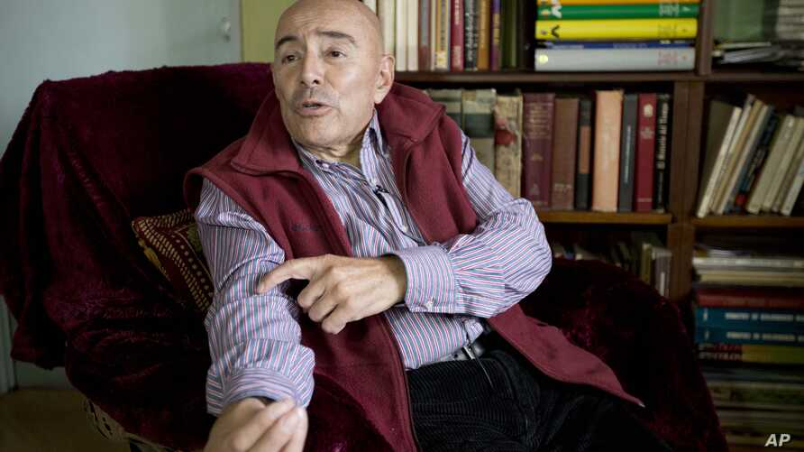 Dr. Gustavo Quintana, who helps people with terminal illnesses end their lives, during interview in Bogota, Colombia, June 19, 2015.