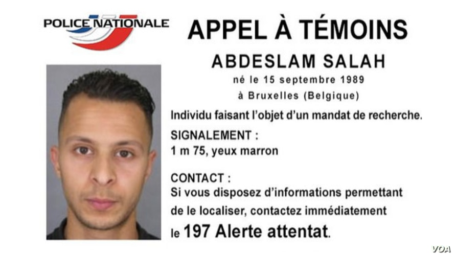 Salah Abdeslam, a Belgian national French police are searching for in connection with Paris terror attacks. (Police Nationale Handout Photo)