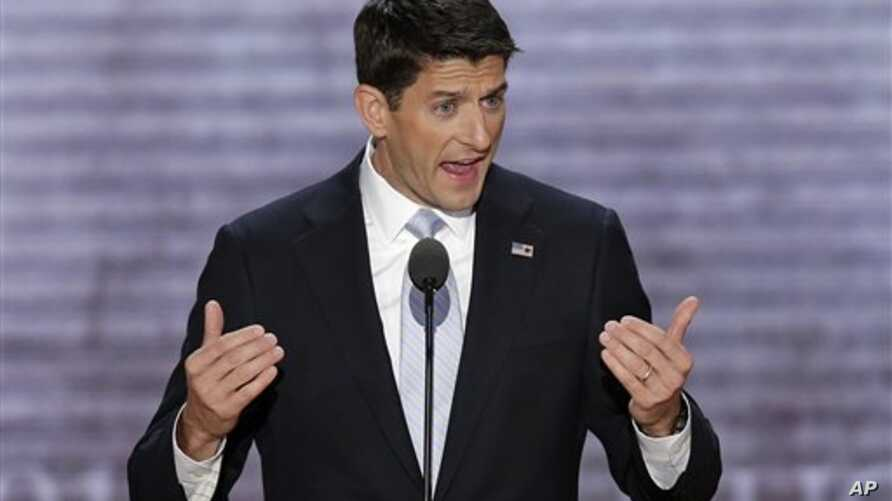 Republican vice presidential nominee, Rep. Paul Ryan addresses the Republican National Convention Aug. 29, 2012