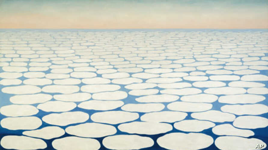 """Sky Above Clouds III/Above the Clouds III, 1963 """"I found I could say things with color and shapes that I couldn't say any other way - things I had no words for."""" Georgia O'Keeffe, American artist, 1887-1986"""