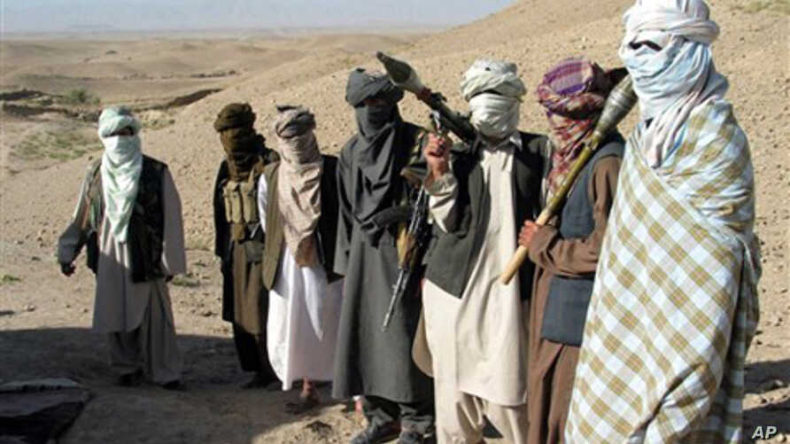 Undated photo of members of the Afghan Taliban (FILE).
