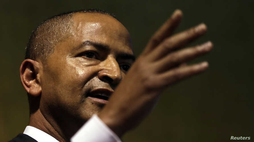 Moise Katumbi, Congolese opposition leader, speaks at a three-day forum, delegates at a resort hotel near Johannesburg, South Africa, March 12, 2018.